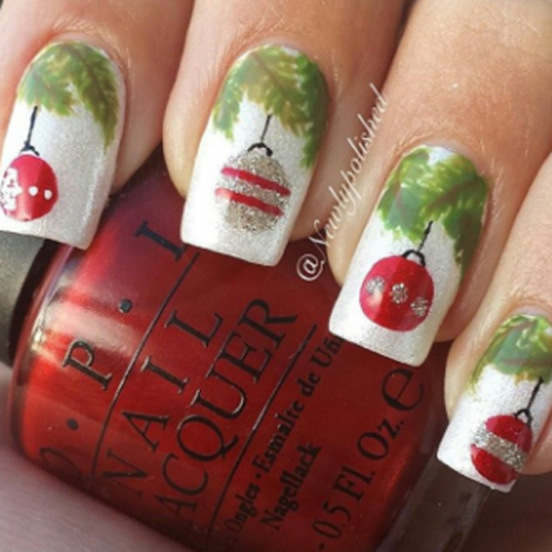 ornaments Christmas nails