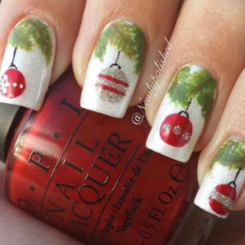ornaments Christmas nails
