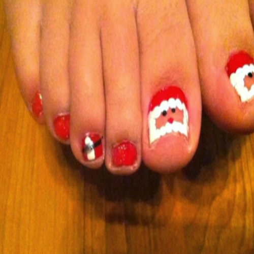 adorable toenail design
