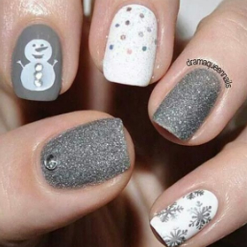 silver and white combo